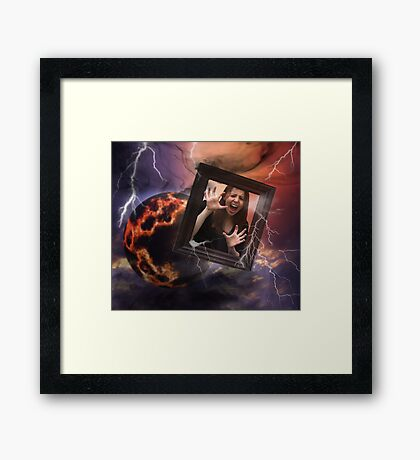 Lost in outer space Framed Print