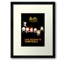 Buffy the Vampire Slayer as South Park Framed Print