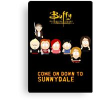 Buffy the Vampire Slayer as South Park Canvas Print