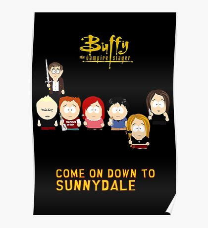 Buffy the Vampire Slayer as South Park Poster