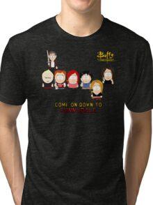 Buffy the Vampire Slayer as South Park Tri-blend T-Shirt