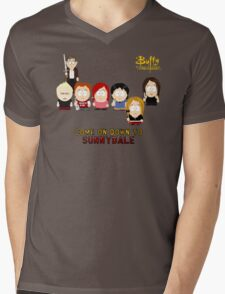 Buffy the Vampire Slayer as South Park Mens V-Neck T-Shirt