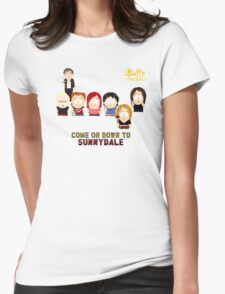 Buffy the Vampire Slayer as South Park Womens Fitted T-Shirt