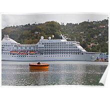 Regent of the Seas docked in the Caribbean Poster