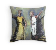 Two Woman Throw Pillow