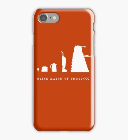 Dalek March of Progress White iPhone Case/Skin