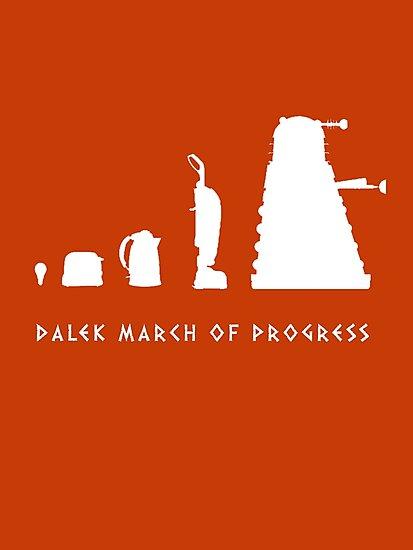 Dalek March of Progress White by ToneCartoons