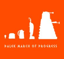 Dalek March of Progress White by ToneCartoons