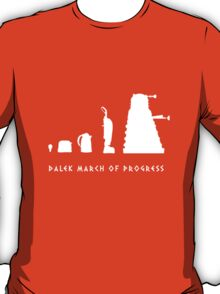 Dalek March of Progress White T-Shirt