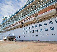 Azura docked in St Lucia in the Caribbean by Keith Larby