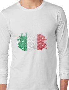 Mario Bross Flag Long Sleeve T-Shirt