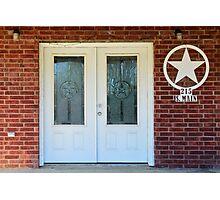 Texas Star Double Doors Photographic Print