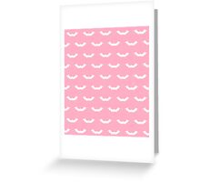 Cute Bats - Pink and White Greeting Card
