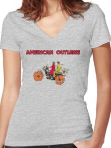American Outlaws (Harold and Maude) Women's Fitted V-Neck T-Shirt