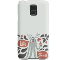 Cute and Creepy Vampire illustration...with a cupcake Samsung Galaxy Case/Skin