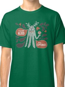 Cute and Creepy Vampire illustration...with a cupcake Classic T-Shirt