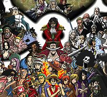 ONE PIECE CHARACTERS by rajhe