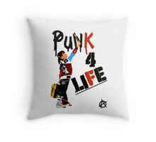 """Punk 4 Life"" Throw Pillow"