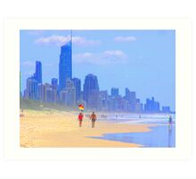 View to Surfers Paradise Art Print
