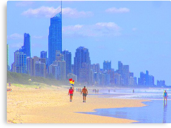 View to Surfers Paradise by Virginia McGowan
