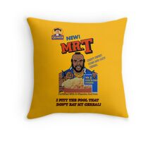 Mr. T Cereal  Throw Pillow