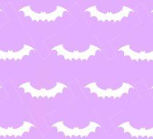 Cute Bats - Purple and White Sticker