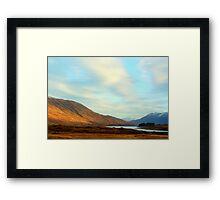 loch cluanie,scotland Framed Print