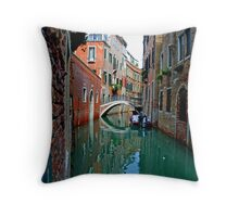 Canal Reflections Throw Pillow