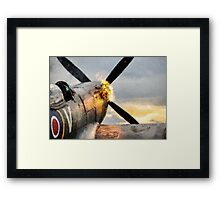 Spitfire FIRING UP - Fantastic Spitfire WWII art - world war 2 art / aviation art Framed Print