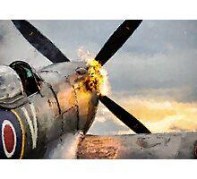 Spitfire FIRING UP - Fantastic Spitfire WWII art - world war 2 art / aviation art Photographic Print