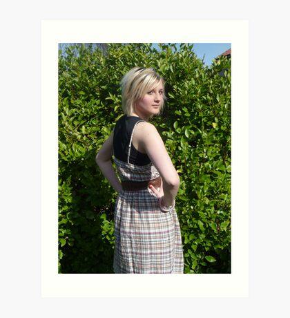 Spring sunshine dress Art Print