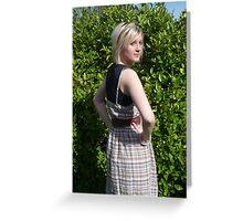 Spring sunshine dress Greeting Card
