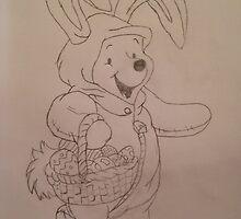 Easter Winnie  by Amydonohue