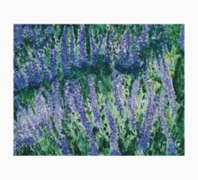 Russian Sage wildflowers in watercolor Kids Clothes