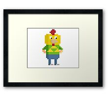 Pixel Intern Joe Framed Print