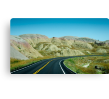 Winding Through The Badlands Canvas Print