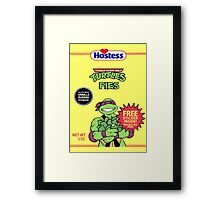 Teenage Mutant Puddin' Pies Framed Print