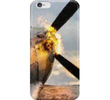 Spitfire FIRING UP - Fantastic Spitfire WWII art - world war 2 art / aviation art iPhone Case/Skin