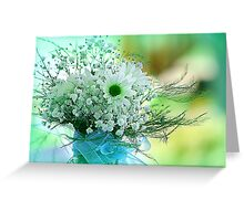 Daisies and Baby's Breath Greeting Card