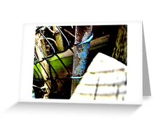 Decayed Fence! Greeting Card