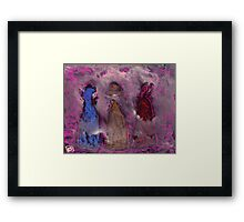 3 People in a fog Framed Print