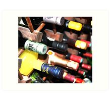 Alcohol Bottles! Art Print