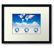 World Framed Print