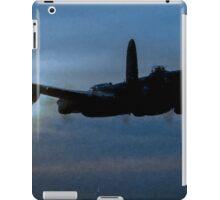 "Avro Lancaster - Lancaster Bomber ""NIGHT RUN"" - ww2 art - aviation art / dam busters iPad Case/Skin"