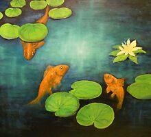 Goldfish Pond by Birgit Schnapp