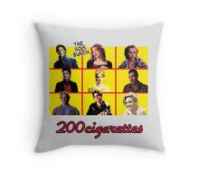 200 Cigarettes (The 80's Bunch) Throw Pillow