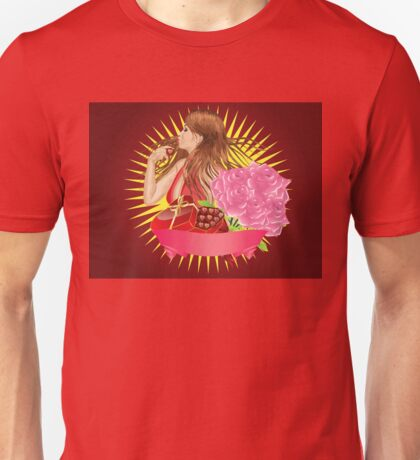 Girl with gift box and ribbon Unisex T-Shirt