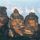 The Three Sisters - Katoomba NSW  by Bev Woodman