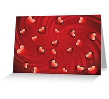 Glossy red hearts Greeting Card