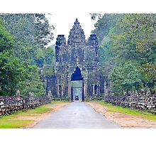 Entrance gate to Angkor Wat Photographic Print